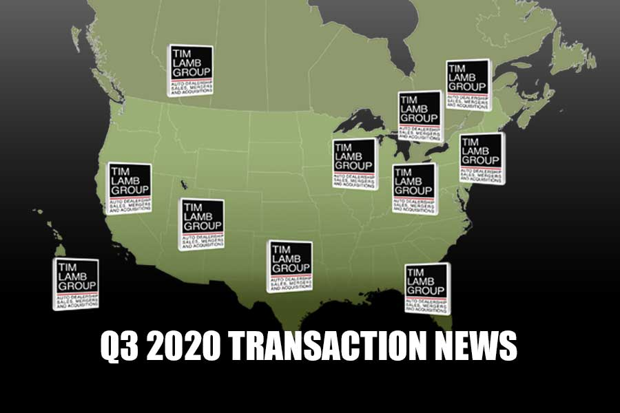 Q3 2020 TRANSACTION NEWS FROM TIM LAMB GROUP